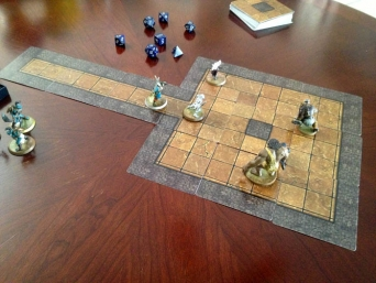 Modular Dungeon Tiles Square Room Example