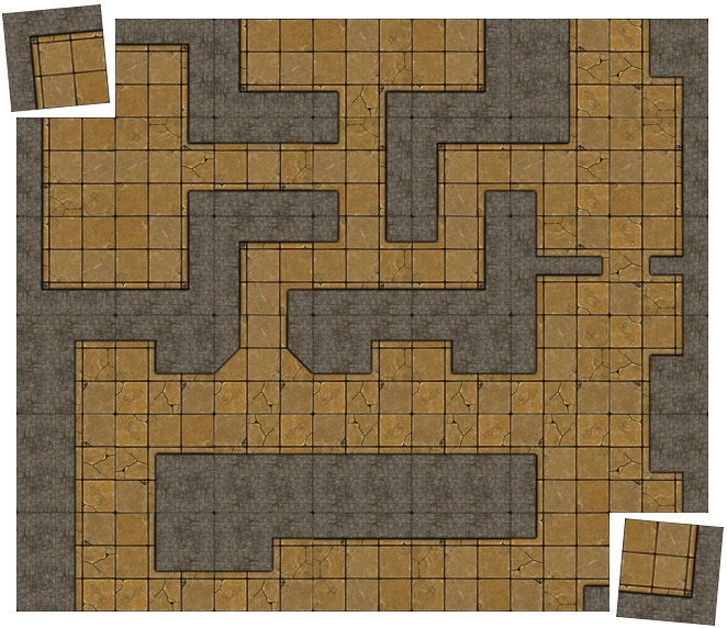 Sample Dungeon Tiles with Master & Expansion Set Combo