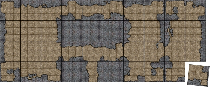 Sample Modular Terrain with Cavern Walls