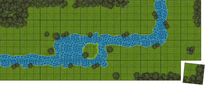 Sample Modular Terrain with Water & Forest