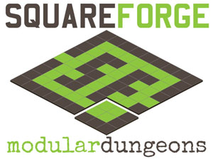 SquareForge Modular Dungeon Tiles for RPG Games